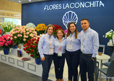 Flores la Conchita, grower of (amongst others) calla, alstroemeria, ranunculus, and hydrangea. From left to right Adriana Uribe, Yolanda Vargas, Aura Garcia, and Santiago Restrepo.