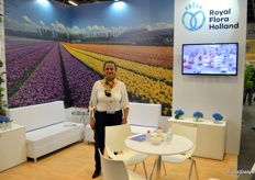 Royal FloraHolland is the largest flower auction in the world based in Holland. The cooperation consists of primarily Dutch growers, quite a few African farms, and a handful of growers from elsewhere. Evelyn Carcamo represents FloraHolland in Colombia, holding office in Bogota, and is mostly their (at both the show and in the market) to make contact and be in touch with the growers, pointing them to the possibilities this major market place has to offer.