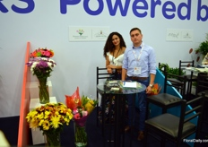 Elisabeth Ospina and John Ramirez represent Flowers Party, a grower of different types of flowers. The grower specialized in making bouquets.