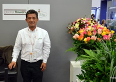 Green Flowers is a new company in the business, kicking off only two years ago. Luis Acosta, the company's director, is overseeing the production of different types of foliage, roses, and carnation.