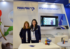 Panalpina could not be missed, since it had three different booths, all highlighting a different field of operation of this major cargo shipping company. At this one, Alexandra Ayala and Johanna Jimenez highlight the solutions with regards to shipping perishables.