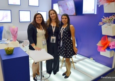 Bibiana Munoz, Tatiana Carillo, and Milena Cobos with ITC Wilchess. Tatiana is the daughter if Ms Wilches, who started this Colombian sleeve manufacturing company.