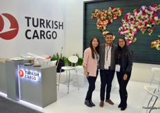 Claudia Paez, Alex Guerrens, and Tania Alvarado with Turkish Cargo, offering cargo flights from Quito straight to Istanbul.