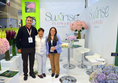 The team of Sunrise Flowers, the new trade mark by Sabanilla, a grower of hydrangea and Snapdragon in Colombia. This new name was revealed right here at Proflora.