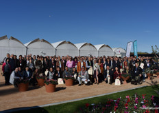 The guests who visited the new greenhouse.