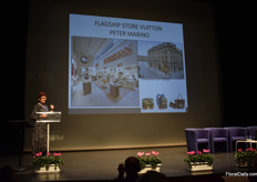 "Second speaker was Hélène Lafourcade, Presidente Good2Know agency in ""Global Merchandising"", Paris. She talked and show several successful examples of merchandising. The topic: ""From fashion to trade of blooming plants: the merchandising of tomorrow"" More on this later on FloralDaily.com."