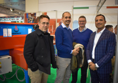 The Urbinati team was of course present and will also be at the Fruit Logistica. In the photo Roberto Macari, Tommaso Collini & Malcom Calder with Transplant Systems.