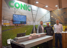Jurdi Gusy & Miquel Ribera of Conic Systems are visited by Arjen Janmaat with Ridder