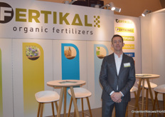 Lieven Wouters with Fertikal. The Belgian company produced 120.000 tons of organic fertilizer in 2019 and is working on a fertilizer crumble.
