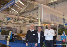 Holland Tuinbouw Systemen ready at the start of day 2 with Berry Zuiderwijk, Leo Alleblas and Harry Kroonen.