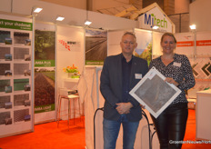 For Marco Anneveldt with Howitec Netting it was his first IPM after becoming in May 2019 the new CEO of the company. Next to him on the picture Heleen Hofstra with the new 90 mesh anti-trips net Ornata Air Plus 1517. https://www.groentennieuws.nl/article/9182358/in-beweegbare-systemen-in-kassen-wordt-dit-soort-gaas-veel-gebruikt/