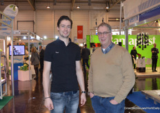 At IPM as visitors: father and son Van Namen. Berjelle (Pika Surprisa) is working hard building a brand for herbs and leavy vegetables grown in a former mushroom cell while his father Johan is still growing mushrooms.