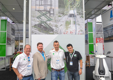 The team of Formflex and Metazet; Arie, Aaron, Philippe and Alexander.