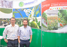 Roland Pereira and Alessandro Pasqualato from Simonetti and Siteco.
