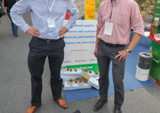 Elmer Vlielander from Benfried International and Arie van de Wijgert from Ferm O Feed who was visiting the show.