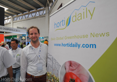 Wouter Voortman of VitoTherm at the Hortidaily booth.