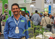 Francisco Acosta of Village Farms was visiting the show as well.