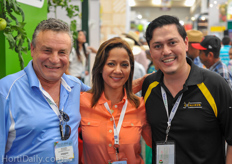 Richard and Yamila Colasanti of Excalibur together with Pedro Torres of Excalibur Mexico.
