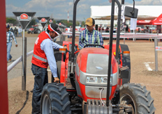 Besides the seed trials, many tractor brand offered demo rides.