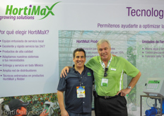 Maurico Revah of United Farms and Wil Lammers of HortiMax. Hortimax is going to install the latest expansion project at United Farms.
