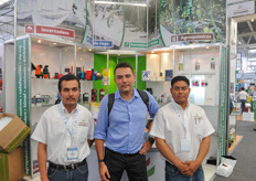 Jose Gongora from Agripolyane and Geopolyane visiting his distributors from Agro Soluciones.