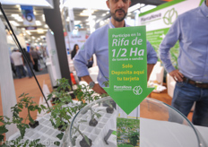 At the booth of PlantaNova you could winn a half hectare of young plants.
