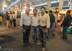 Jorge Escobar from Millenniumsoils Coir together with his nephew (Luis Guillerillo Cabal) and brother in law (Luis Miguel Cabal).