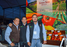 Juan Pablo Lara, Carlos Lawers H. and José Ramírez from Gowan Seed.