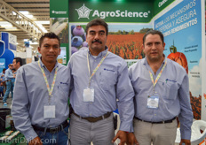 Victor Manuel, Javier Daniel Morán Escoto, and Julio Ángel Malvaez Reyes from AgroScience.