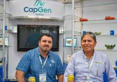 Ernesto Magaña Félix from GapGen Seeds and Rubén Araoz Maldonado from Agro-Smart.