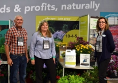 Anthony Magon of Bradley Nurseries, Janet Curry and Amy McCormack of Nature's Source.