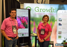 Seth Reed and Chelsey Groh with GrowIt!