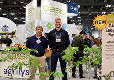 Brenton Williams and Michael Wiebe of Oasis Grower Solutions.