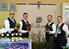 The team of J. Berry Nursery f.l.t.r., Scott Sterling, Judson LeCompte, Jonathan Berry and Keith Formway.