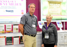 Dean Mosdell and Diana Nisbet of Syngenta Crop Protection.
