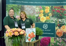 Shellie Reese and Rebecca Reed of David Austin Roses.