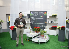 Lino Truffelli of Orlandelli, an italian bench manufacturer and is exhibiting at the floradecora to meet garden centers.