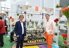 Mario Nederpelt and Rick Minck of Dümmen Orange. At their booth, they presented the use of flowers in four different themes according to the latest Christmasworld trends.