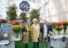 """Fleur Verbeek of Artemis, Jhon Koopman of it ain't photography and Gerben Ravensberger of Lilies of Life. All of them are lily growers and are promoting their lilies and those of other growers under Your Lily. This year, they are exhibiting at the Floradecora for the second time as they experienced a succesfull firts edition. ""Last year, there was a lot of interest for our products and the audience was very diverse."""