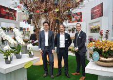 Marco Hendrics of Opti Flor, Mattijs Bodegom of Anthura and Mike Rijnsburger of Stolk were again, like last year, sharing a booth.