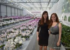 Iris Hassinger and Jasmin Hassinger of Hassinger Orchids