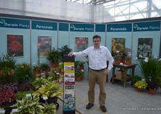 Kees van der Meij from Darwin Plants created a 'cosy corner' in Rijsenhout, at the location of Pan American Seeds