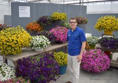 Ross Ford, also from Pan American Seed, told us all about the assortment and - here - the news Calibrachoa's