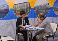 Also Chinese greenhouse builder Beijing KingPeng wss present. Many Asian exhibitors were present.
