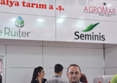 Alessandro Mazzacano from Urbinati at the booth of Turkish distributor Titiz Agro