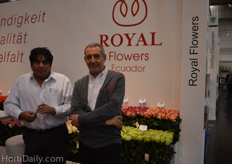 Javeir Palenque and Tom Biondo from Royal Flowers.
