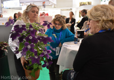 Ghita Krage from Poulsen Roser showing the indoor clematis.