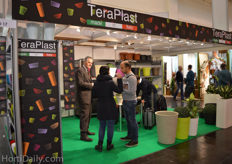 Giorgio Merler from TeraPlast talking with visitors.