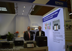 Maik Kollmann from Epson and Dave Long from Western Tag and Label.