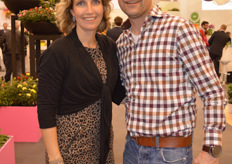 Marleen van Arendonk and Paul Holla from Holla Roses visited the IPM Essen.